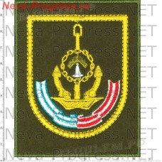 Stripe 161-I red banner, order of Ushakov brigade of submarines (olive background, yellow edging)