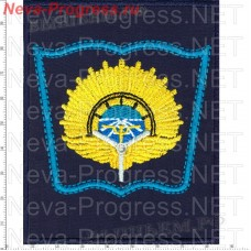 "Patch Training and Research Center air force ""air force Academy named after Professor N. E. Zhukovsky and Y. A. Gagarin"" Syzran (blue background, blue edging)"