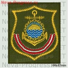 Patch Pacific fleet (shield) olive background, yellow edging