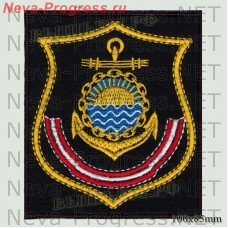 Patch Pacific fleet(shield) Kamchatka (black background, yellow edging)