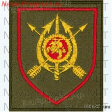 Patch 19 regiment battle management/H 49494 Nizhny Novgorod oblast D. Konstantinovo-5 (olive background, red edging)