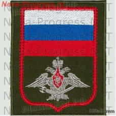 Нашивка Военная Полиция (оливковый фон, красный кант)
