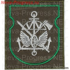 Patch Railway troops(wheel, fenders, green frame) olive background