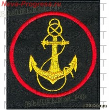 Stripe Marine corps Russia (black background, red edging)