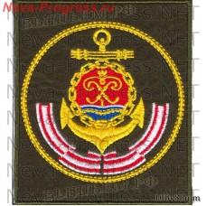 Нашивка Балтийский флот ВМФ России (оливковый фон, желтый кант)