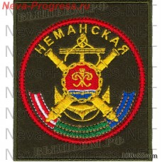 Patch Neman 244 th Artillery brigade coastal forces of the Baltic fleet of Russia (olive background, red edging)