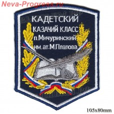 Chevron Cossack Cadet class p. Michurinskiy name of ataman Platov M. (pentagonal)